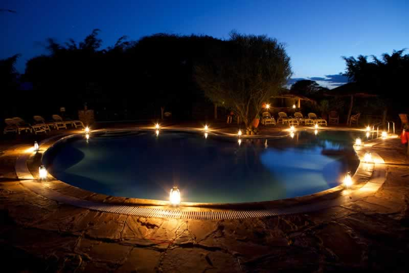Kibo safari camp swimming pool